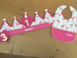 Verjaardagskroon flamingo