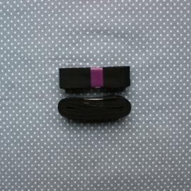 Biaisband zwart