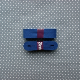 Biaisband kobaltblauw