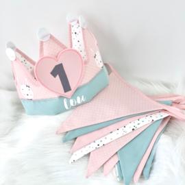 Verjaardagskroon konijntjes
