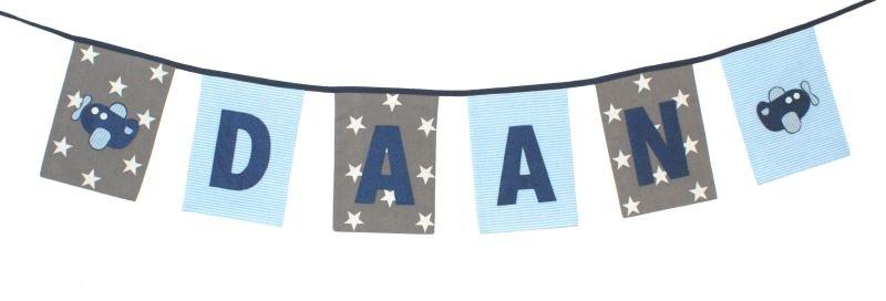 Naamslinger rechthoek extra groot (per vlaggetje)