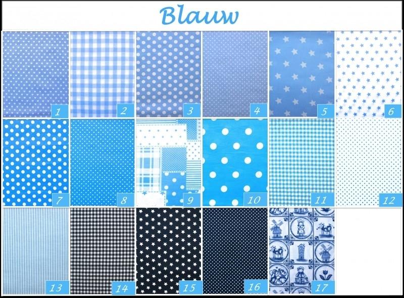 Blauwe stoffen