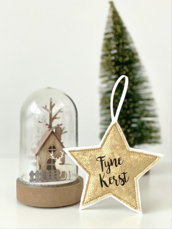 "Kersthanger ""Merry Christmas"" of ""Fijne Kerst"""