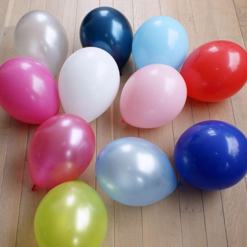 Ballonnen, set van 10 stuks, unicolor