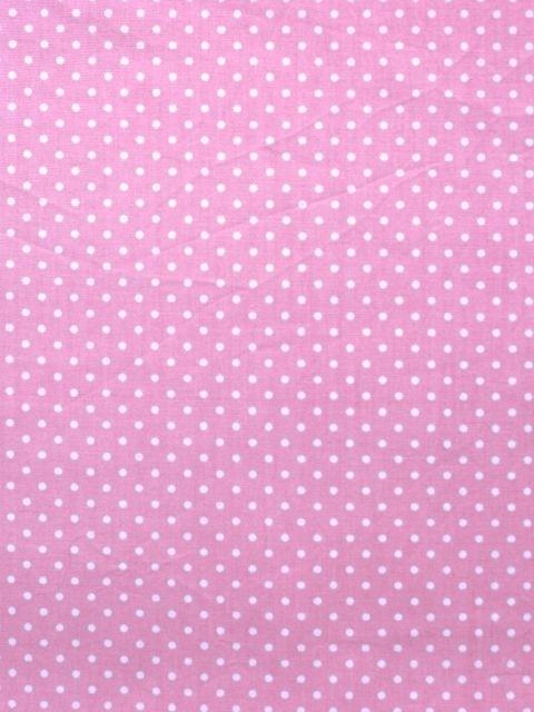 Roze stof met witte stip