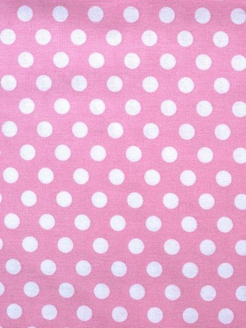 Roze stof met medium witte stip