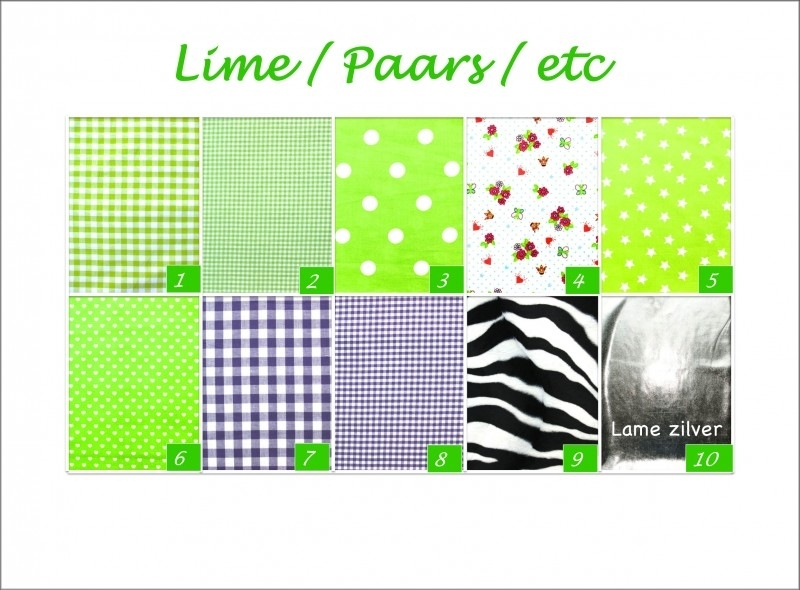 Lime & paarse stoffen