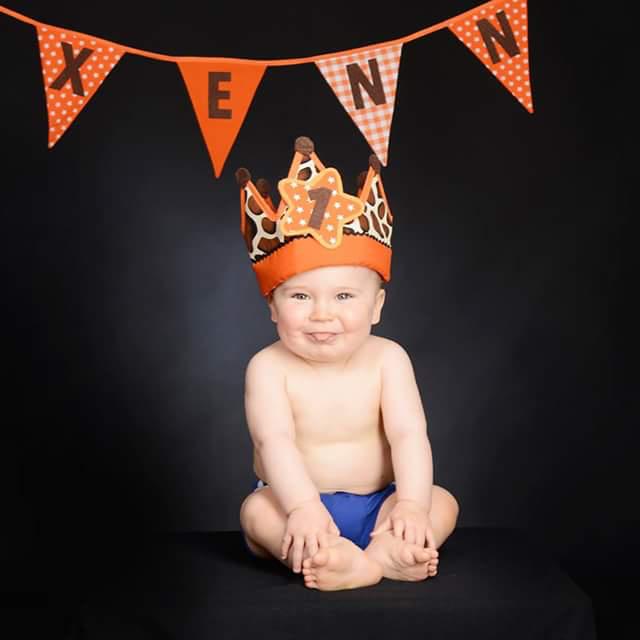 Verjaardagskroon Happy Giraf oranje