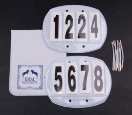 Startnummer rond verwisselbaar 4 cijfers.