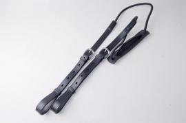 Ideal Luxe tweespan elastische/leder Strengendragers