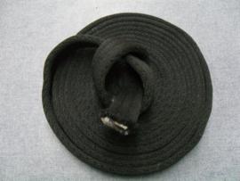 Rol zacht, zwart cushion web band 5 meter