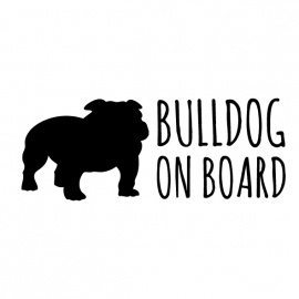 Bulldog on board Autosticker