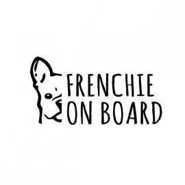 Frenchie on board Autosticker