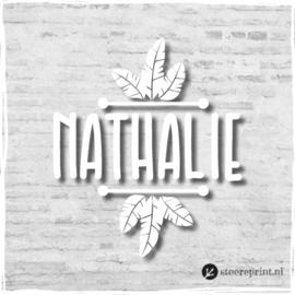Geboorteraamsticker Nathalie