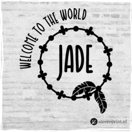 Geboorteraamsticker Jade