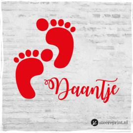 Geboorteraamsticker Daantje