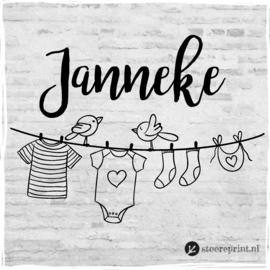 Geboorteraamsticker Janneke