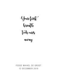 Geboorteposter Your first breath...