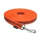 Lange lijn nylon/rubber 20mm - 15m oranje