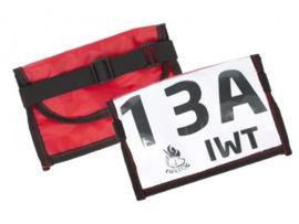 Wedstrijdnummerhouder Firedog - rood