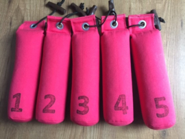 Dummy Set  500g genummerd 5 stuks - hot pink