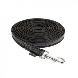 Lange lijn nylon/rubber 20mm - 5m zwart