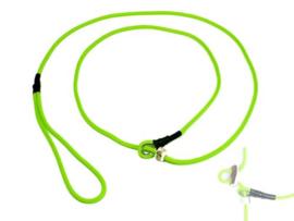 Moxon 4 mm - 130 cm met geweistop - neon groen