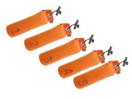 Dummy Set  500g genummerd 5 stuks - oranje