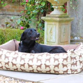 Brown Labrador Dog Bed - large