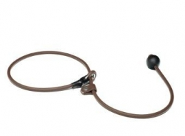 BioThane short leash 6mm - 70cm  - bruin