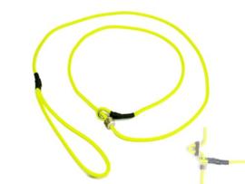 Moxon 4 mm - 130 cm met geweistop - neon geel
