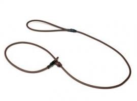 Biothane moxon lijn 8mm - 150cm - bruin