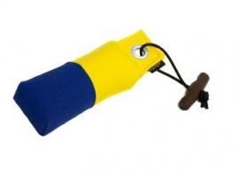Pocket dummy 150g geel/blauw