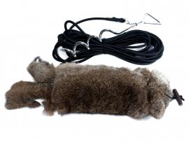 Springdummy met konijnenvacht