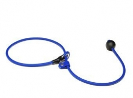 BioThane short leash 6mm - 70cm  - blauw