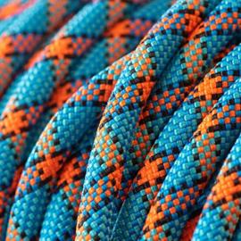 Field trial moxon lijn 8 mm - 130 cm met geweistop blauw/zwart/oranje