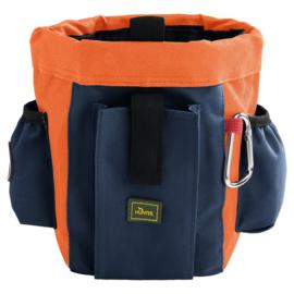 Hunter treatbag Profi - grijsblauw/oranje