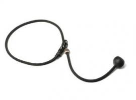 Short leash 6mm - 65 cm zwart