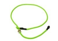 Short leash 65 cm neon groen