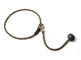 Short leash 6mm - 65 cm zwart/oranje
