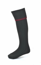House of Cheviot - Estate Field Sock - Loden/Brick