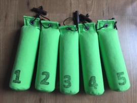 Dummy Set  500g genummerd 5 stuks - neon groen