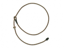 Short leash 65 cm khaki/rood