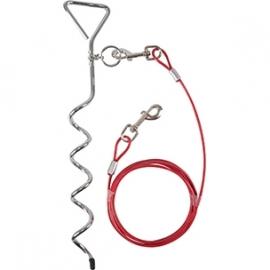 Spiraal vastlegpin + 3 meter kabel