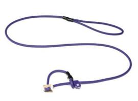 Biothane moxon 6mm - 130 cm met geweistop - lila
