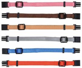 Set 6 kleuren puppyhalsbandjes - S/M      17 - 25cm/10mm