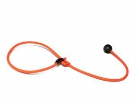 BioThane short leash 6mm - 70cm  - neon oranje