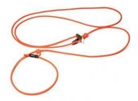 BioThane schouderlijn `Hunting profi silent` 280cm neon oranje