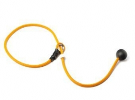 Short leash 6mm - 65 cm oranje