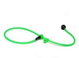BioThane short leash 6mm - 70cm  - neon groen